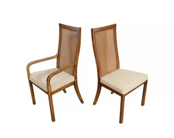 Drexel Heritage Dining Chairs Accolade Walnut Mid Century Modern