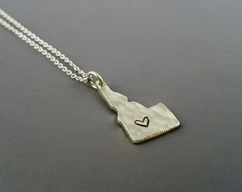 Sterling Silver Idaho Charm Necklace