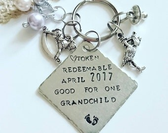 Baby announcement Grandparents Pregnancy reveal  gift Surprise gift IVF positive New baby gift Gifts for grandparents to be, Baby arrival
