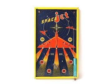Bagatelle Game - Space Jet Game - Outer Space Game - Man Cave Decor - Vintage Game Decor - Game Room Decor - Outer Space Decor -Space Game