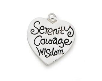 Serenity Courage Wisdom Charms