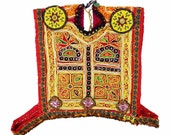 Vintage Kutchi Patch / Kuchi Afghan Dress / ku-vest-patch-37