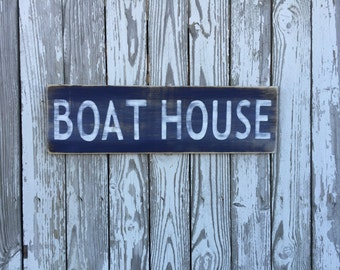 Boat House Sign, 70 Color Options, Wood Sign, Reclaimed Wood Sign, Wood Boat House Sign, Lake Sign, rustic farmhouse sign