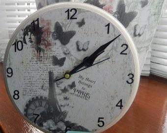 Clock and Waste Bin Set