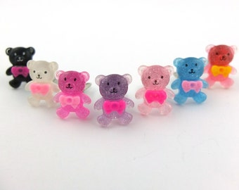 Little Teddy bear clip-on earrings