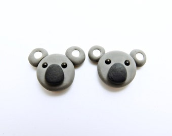 Koala clip-on earrings