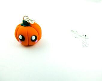 pumpkin charm necklace