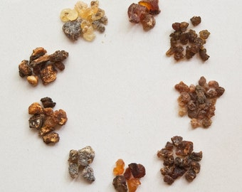 Myrrh Sample Set - Commiphora species (Natural Resin Incense) (1 ounce)