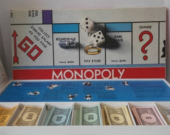 CLEARANCE 1974 Monopoly Board Game, Complete