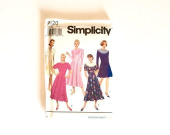 Simplicity 8120, Women's Dress Pattern, Size 12 - 16, Vintage Uncut Pattern