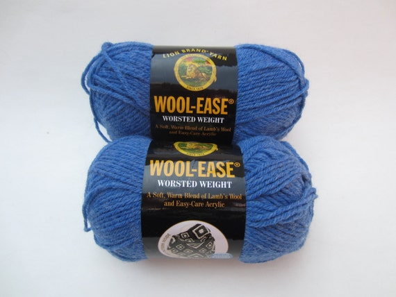 Wool Ease Blue Heather 107 Lion Brand Yarn Worsted Weight