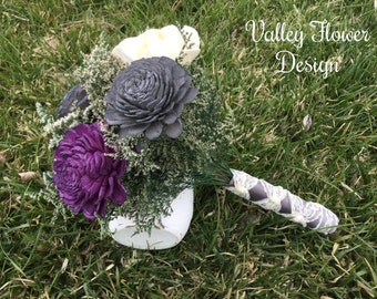 Sola flower bouquet,  wedding bouquet, bridemaids bouquet, alternative bouquet