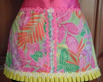 Childs Apron made from Upcycled Lilly Pulitzer Fabric