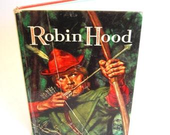 Vintage Children's Book,Howard Pyle's The Merry Adventures of Robin Hood