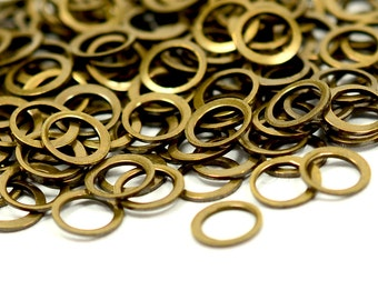 500 pcs. Antique Brass 5 mm Circle Findings Charms