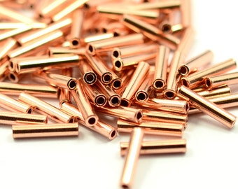 50 Pcs. Raw Copper 2x10 mm Tube Spacers