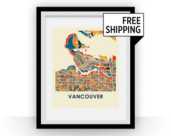 Vancouver Map Print - Full Color Map Poster