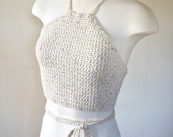 Crochet Halter Top | Halter Top | Crochet Top | Crochet Clothing | Crochet Shirt | Crochet Halter | Summer Halter Top | Summer Top | Halter