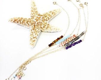 Minimalist bar charm bracelets in gold fill or SS