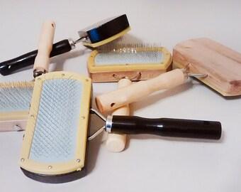 Faux Fur Brush - Wood