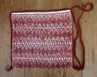 Vintage Mexican Moral Mayan Bag From Chiapas Highlands