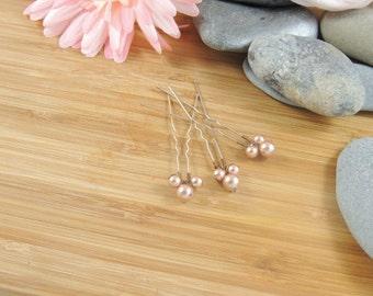 Swarovski Powdered Almond Pearl - Bobby Pins