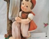 SHOP4FUN Hummel Like Girl Figurine Doing Laundry # AH 3390F
