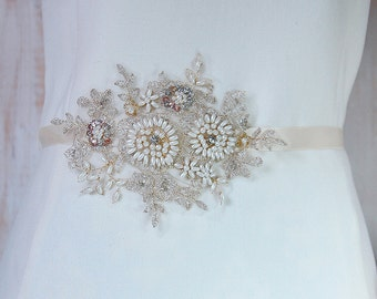 Maternity sash, bridal sash, wedding sash, lace sash, bridal belt, wedding belt, maternity belt