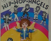 Vintage Hip Hop Angels Pin!  Aspiring Angels by Karen Goldman! 1994!