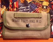 Original Unissued WWII U.S. Military Army USMC M13 Spare Parts Khaki Canvas Tool Roll for Browning 1919 Rifle