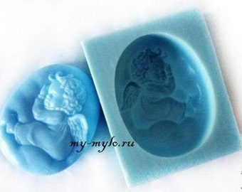 Silicone soap mold Sleeping angel