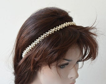 Wedding Hair Accessories, Pearl Headband, Bridal Headpiece, Wedding Hair, Bridal Hair Jewelry
