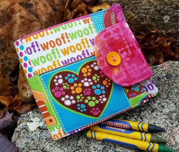 Puppy Dog Crayon Wallet, Girl's Crayon Holder