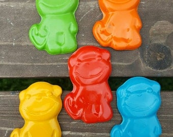 Monkey Crayons set of 10 - party favors
