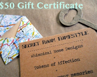 50 Dollar Gift Certificate for the Shop and Free Shipping