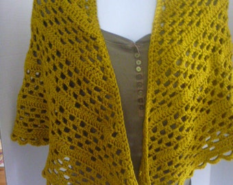 crochet shawl, prayer shawl, spring wrap, handmade shawl