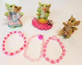 Set of Three Pink Children's Bracelets