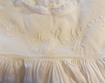 Embroidery Design with Monogram for a Yoke Front
