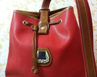Bellisima Lancel Bag secchiello Rosso anni '80 red