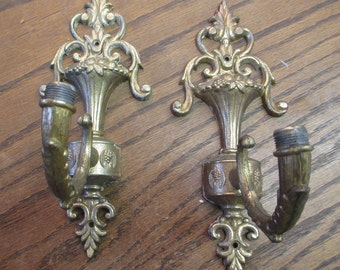 Vintage, Pair  Antique 1920-30  Wall Light Sconce - Great Architectural Salvage  finds - Estate find!