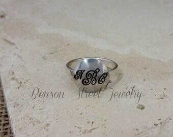 Sterling Silver Mono Ring