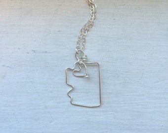 Arizona necklace, state outline