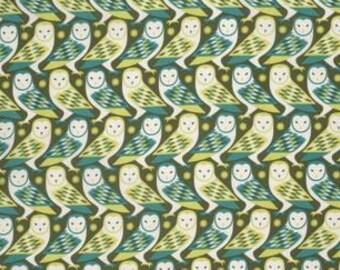 Joel Dewberry Birch Farm 'Barn Owl' in Sage Cotton Fabric