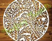 Leafy Tessellation - CYO Papercutting Template