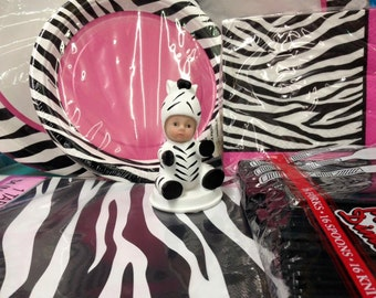 Baby Shower Baby Zebra Party Package Party Supplies