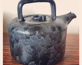 Vintage Bennington Potters David Gil Black Matte Agate Teapot