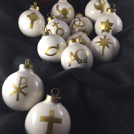 Handmade Christmas Ornament Religious Ornament Icon: Chrismon Ornaments Set Of 12 Christian By FabulousFancyPants