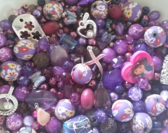 Easter Purple and Pink Passion Bead Soup Mix