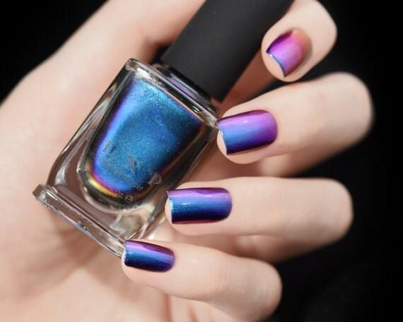Birefringence -  Blue, Purple, Red, Green, Yellow, Orange Ultra Chrome Color Shifting Nail Polish