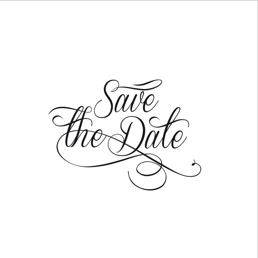 Save the date wedding wording wedding script clip art for by Esani